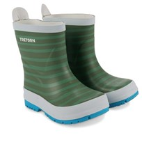 Tretorn Sticky Stripes Wellington Boots Soft Green Green