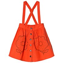nadadelazos Dirndl Embroidered Skirt Beatle Red Embroidery Alp Flower