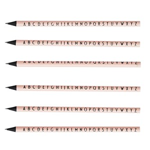 Image of Design Letters 5-Pack ABC Pencils Pink (3015955359)