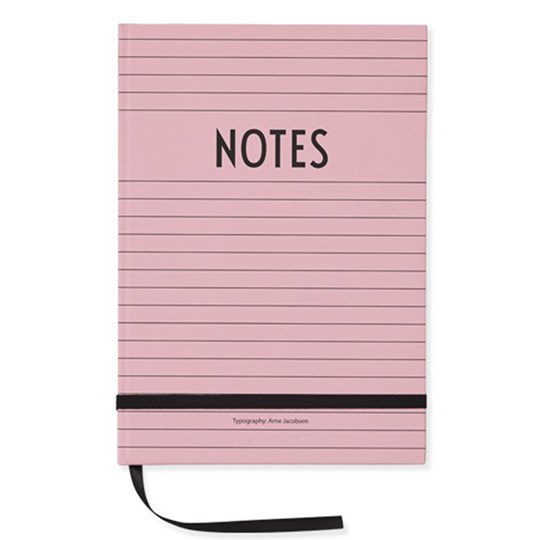 Design Letters A5 Notebook Pink Pink