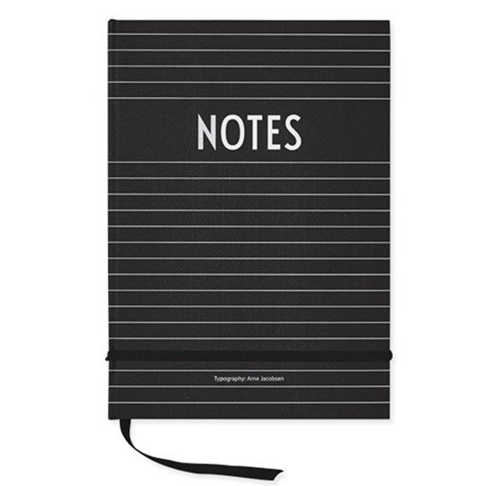 Design Letters A5 Notebook Black Black