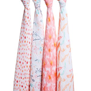 Image of Aden + Anais 4-Pack Petal Blooms Classic Swaddles (3125279109)