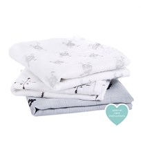 Aden + Anais White & Grey Lovestruck Pack of 3 Musy lovestruck
