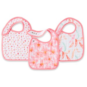 Image of Aden + Anais 3-Pack Petal Blooms Classic Snap Bibs (3125279135)