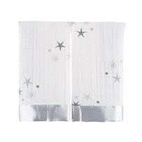 Aden + Anais White Twinkle Star Pack of 2 Issie Security Blanket Twinkle