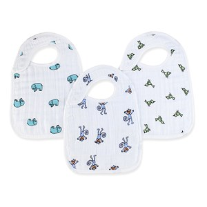 Image of Aden + Anais 3-Pack Jungle Jam Classic Snap Bibs One Size (456621)