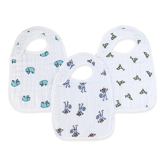 Aden + Anais 3-Pack Jungle Jam Classic Snap Haklappar Multi