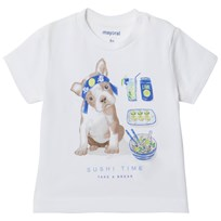 Mayoral Sushi Puppy Print Tee White 39