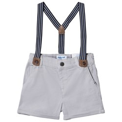 Mayoral Grey Chino Shorts with Suspenders