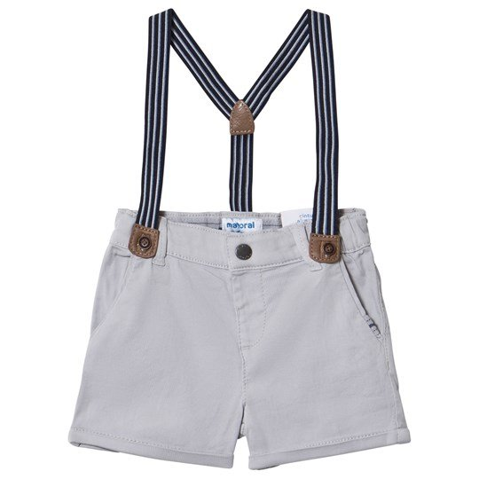 Mayoral Grey Chino Shorts with Suspenders 44