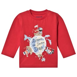 Mayoral Pirate Long Sleeve T-Shirt Red