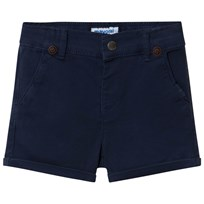 Mayoral Navy Chino Shorts with Suspenders 48