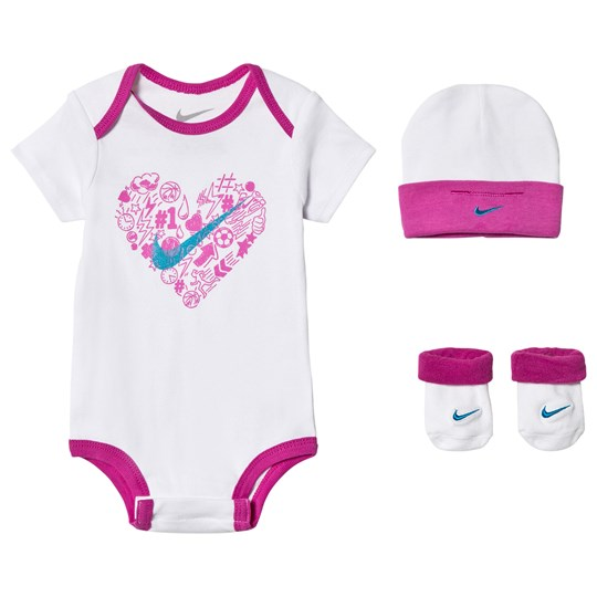 NIKE - White and Pink Baby Body bc9e6f1418a