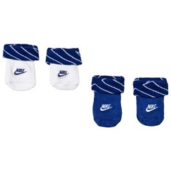 NIKE 2-Pack Sock Booties Blue and White