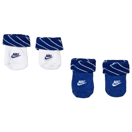 NIKE 2-Pack Sock Booties Blue and White U1A