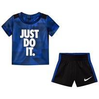 NIKE Navy and Black Legacy Just Do It Tee and Shorts Set U5H