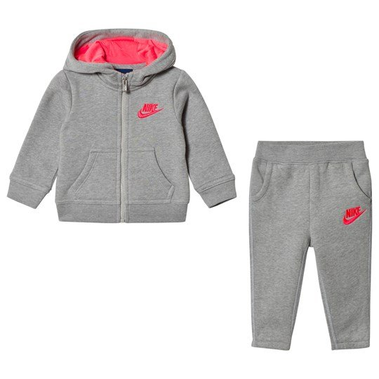 NIKE Grey Club Fleece Hoodie and Sweatpants Set 042