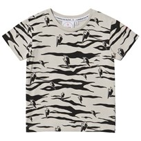 Scamp & Dude Lucky Tiger T-Shirt Grey Sort