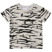 Scamp & Dude Lucky Tiger T-Shirt Grey Black