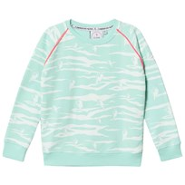 Scamp & Dude Mint and White Tiger Stripe Sweatshirt Pale Green