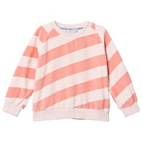 Scamp & Dude Red and Peach Stripe Sweatshirt CORAL AND BLUSH