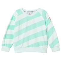 Scamp & Dude Mint and Green Stripe Sweatshirt PALE GREEN AND MINT