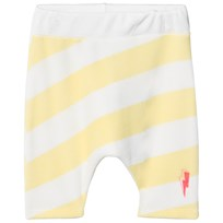 Scamp & Dude Yellow and White Stripe Lucky Shorts Yellow and White