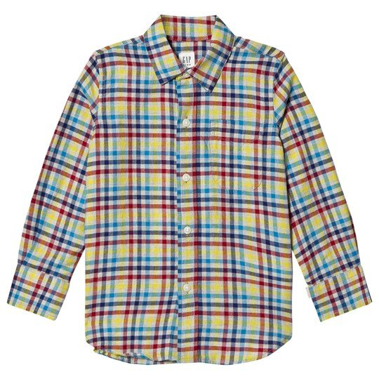 GAP Multicolor Gingham Flannel Shirt Multi