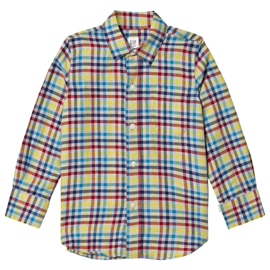 GAP Flannel Shirt Beige Multi