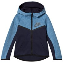 NIKE Blue Heather and Navy Tech Fleece Full Zip Hoodie U7D