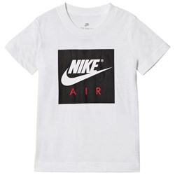 NIKE White and Black Air Tee
