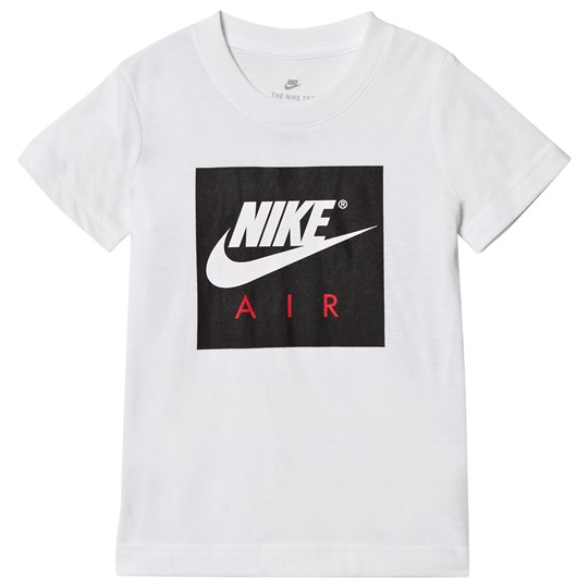 NIKE White and Black Air Tee 001