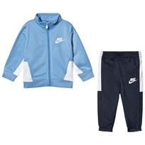 NIKE Blue and Navy Futura Top and Bottoms Se 695