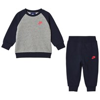 NIKE Navy and Grey Futura Sweater and Sweatpants Set 695