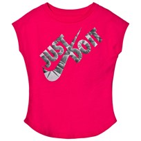 NIKE Pink Prism Print Just Do It Swoosh Tee A4Y