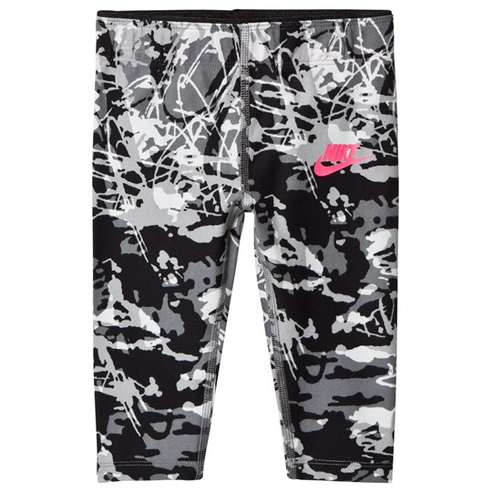 NIKE Black Printed Capri Leggings 023
