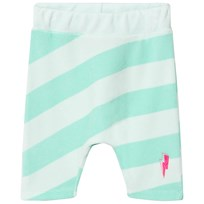 Scamp & Dude Mint and Pale Green Stripe Lucky Shorts MINT AND PALE GREEN