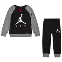 Air Jordan Black Branded French Terry Sweater And Sweatpants Set 023 (BLACK)