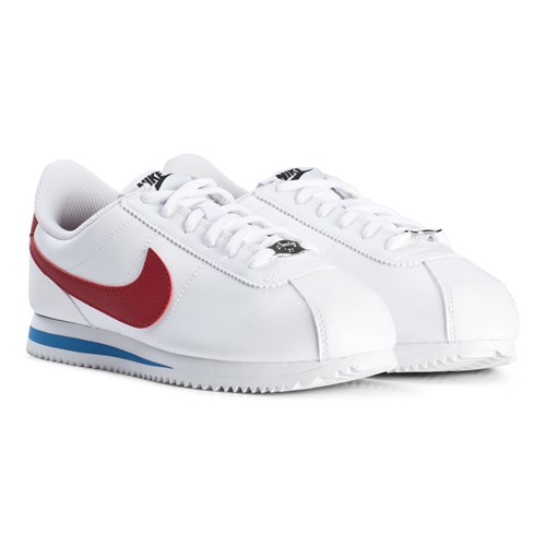 White and Red Cortez Junior Sneakers