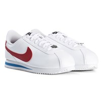 NIKE White and Red Nike Cortez Basic Shoe 103