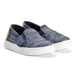Toms Navy Striped Chambray Luca Tiny TOMS