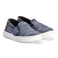 Toms Navy Striped Chambray Luca Tiny TOMS Navy