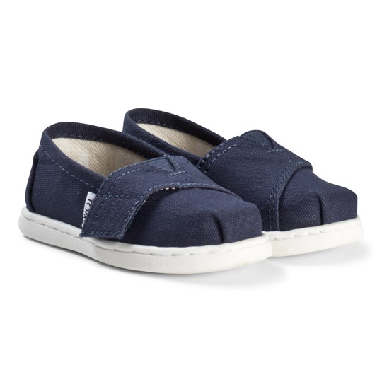 Toms Navy Canvas Tiny TOMS Classics Navy