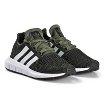 adidas Originals Khaki Swift Run Kids Trainers BASE GREEN S15/FTWR WHITE/CORE BLACK