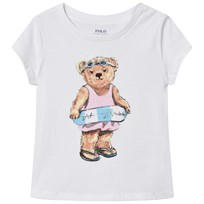 Ralph Lauren Swimming Bear Cotton T-Shirt White 001