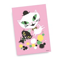 Littlephant Poster, Cat fun, 50 x 70 cm Pink