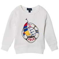 Ralph Lauren White Regatta Ship Logo Sweatshirt 001