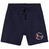 Ralph Lauren Navy Regatta Ship Logo Fleece Shorts 001