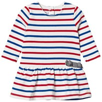 Petit Bateau Striped Dress Blue and Red