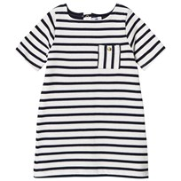 Petit Bateau Striped Dress Navy and White